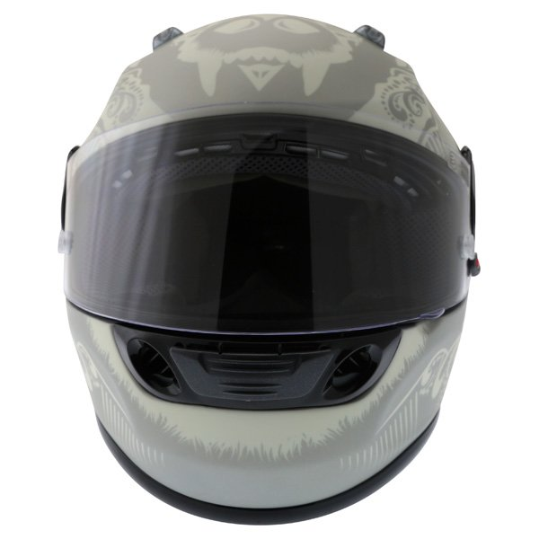 Dainese Performance Fear Silver White Helmet Front
