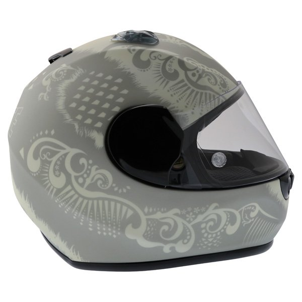 Dainese Performance Fear Silver White Helmet Right Side