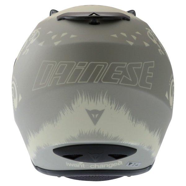 Dainese Performance Fear Silver White Helmet Back