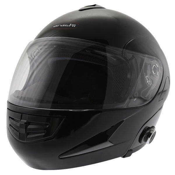 Arashi AH4192 888 Black Helmet Front Left