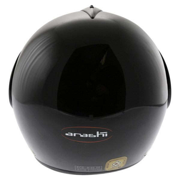 Arashi AH4192 888 Black Helmet Back