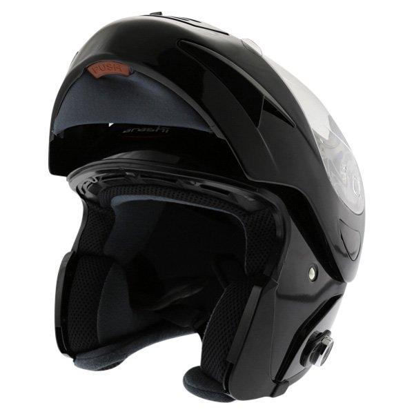 Arashi AH4192 888 Black Helmet Flip Open