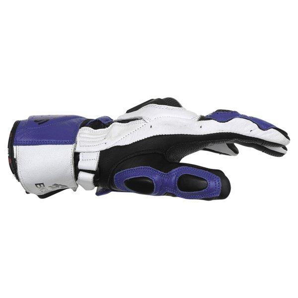 BKS Sphynx Blue White Black Motorcycle Gloves Thumb side