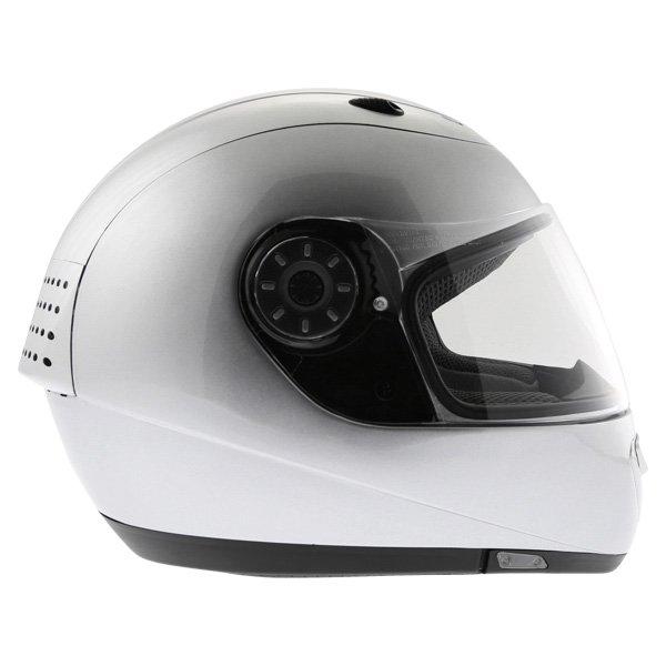 Arashi AH4180 Steel 2 Silver Helmet Right Side