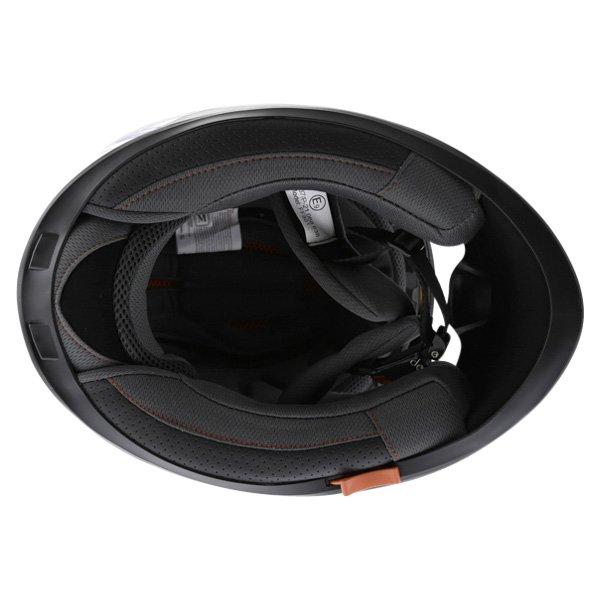BKS Burnout White Black Blue Helmet Inside
