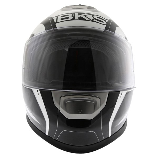 BKS Techno Black White Gun Helmet Front