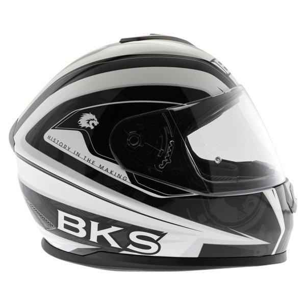 BKS Techno Black White Gun Helmet Right Side