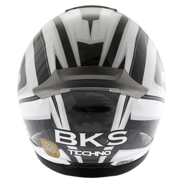 BKS Techno Black White Gun Helmet Back