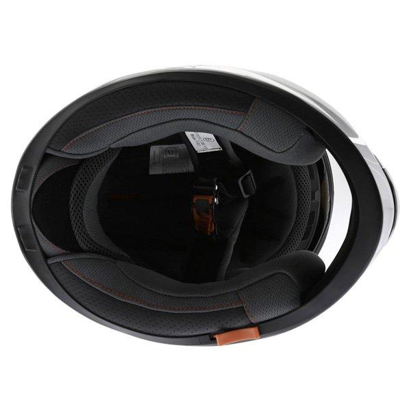 BKS Techno Black White Gun Helmet Inside
