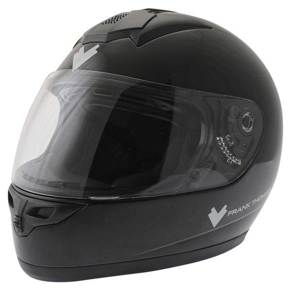 Frank Thomas DV31 Full Face Black Helmet Front Left