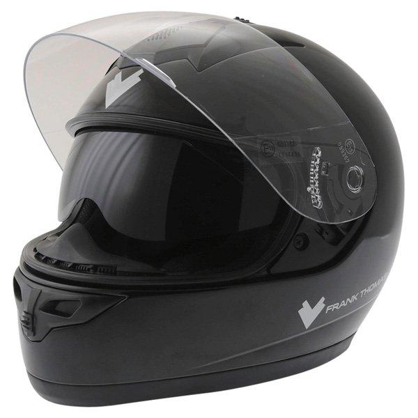 Frank Thomas DV31 Full Face Black Helmet Open With Sun Visor
