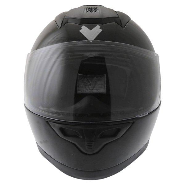 Frank Thomas DV31 Full Face Black Helmet Front