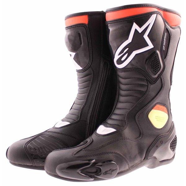 Alpinestars S-MX 5 Waterproof Black Red Yellow Motorcycle Boots Pair