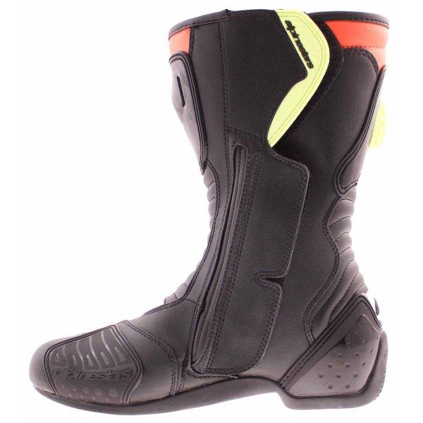 Alpinestars S-MX 5 Waterproof Black Red Yellow Motorcycle Boots Inside leg