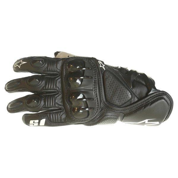 Alpinestars S-1 Black Motorcycle Gloves Back