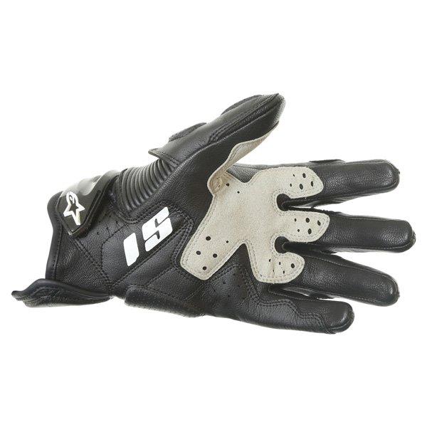 Alpinestars S-1 Black Motorcycle Gloves Palm