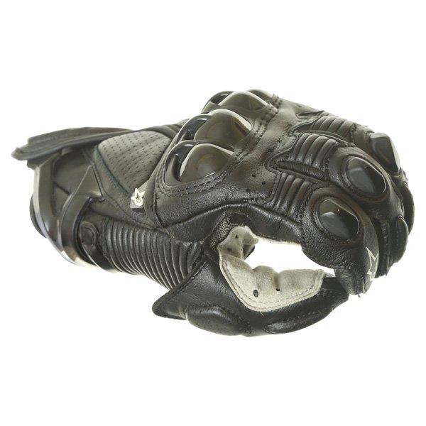 Alpinestars S-1 Black Motorcycle Gloves Knuckle