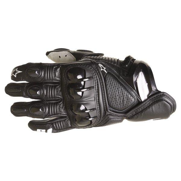 Alpinestars S-1 Black White Motorcycle Gloves Back