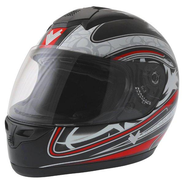 Frank Thomas DV31 Full Face Red Helmet Front Left