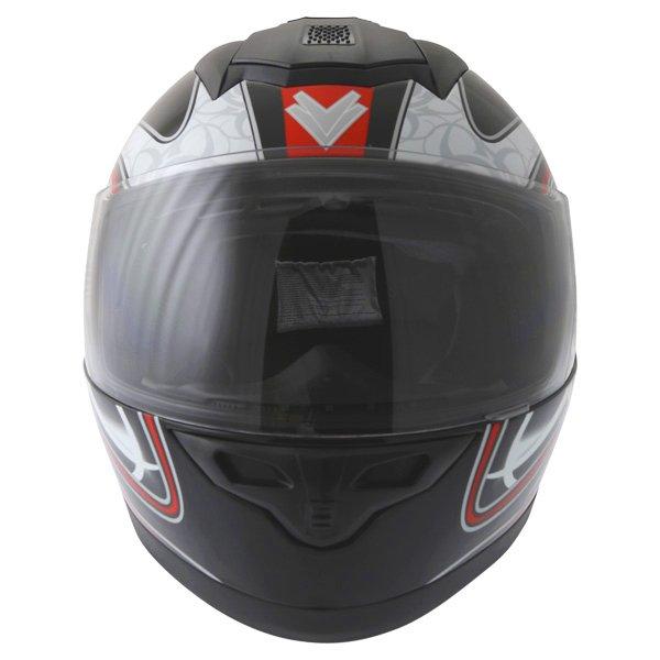 Frank Thomas DV31 Full Face Red Helmet Front