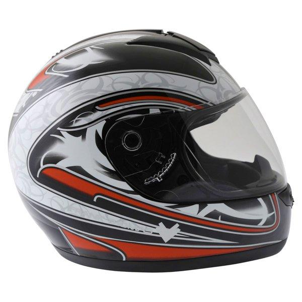 Frank Thomas DV31 Full Face Red Helmet Right Side