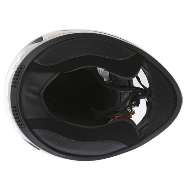 Frank Thomas DV31 Full Face Red Helmet Inside