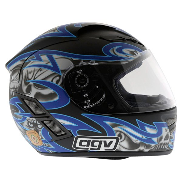 AGV Stealth Skulls Blue Helmet Right Side