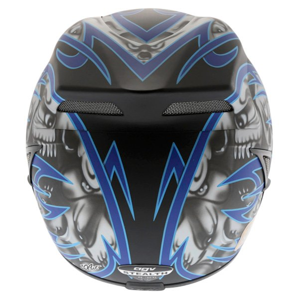 AGV Stealth Skulls Blue Helmet Back