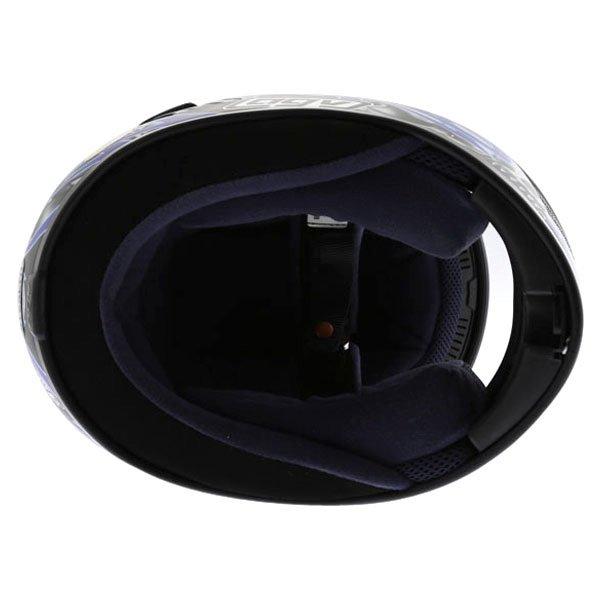 AGV Stealth Skulls Blue Helmet Inside