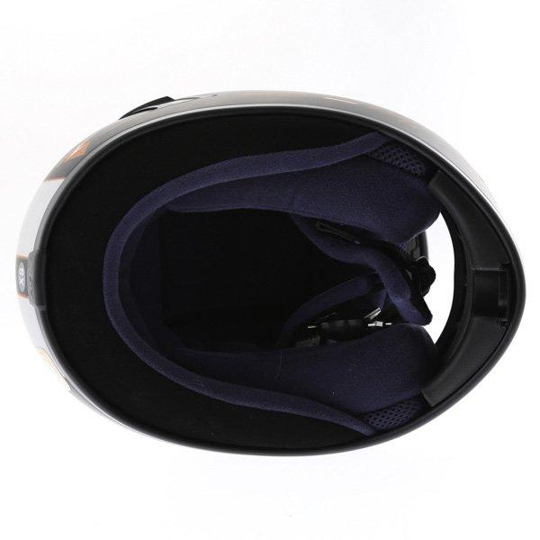 AGV S4 Black Silver Red Helmet Inside