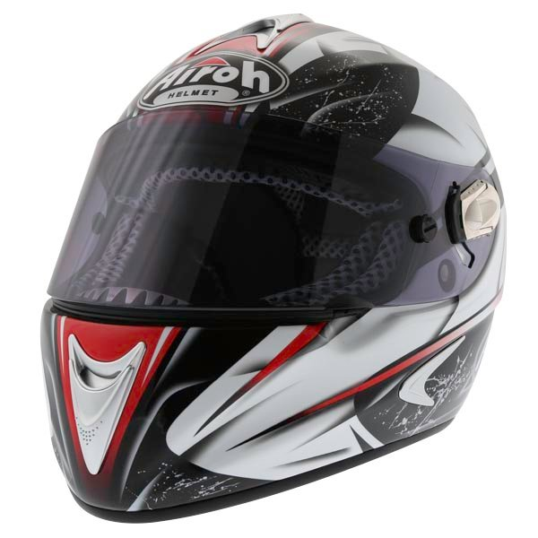Airoh Dragon Star Red Helmet Front Left