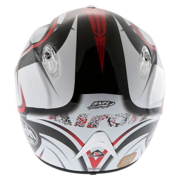 Airoh Dragon Star Red Helmet Back