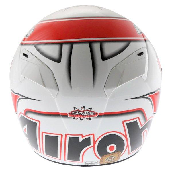 Airoh GP Run Red Helmet Back