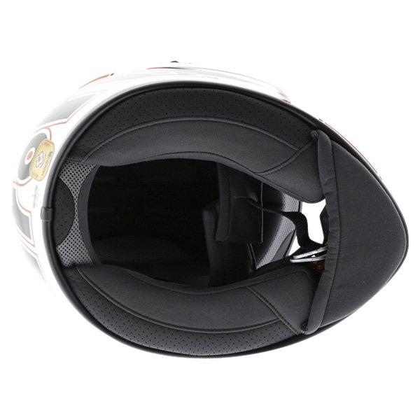 Airoh GP Run Red Helmet Inside