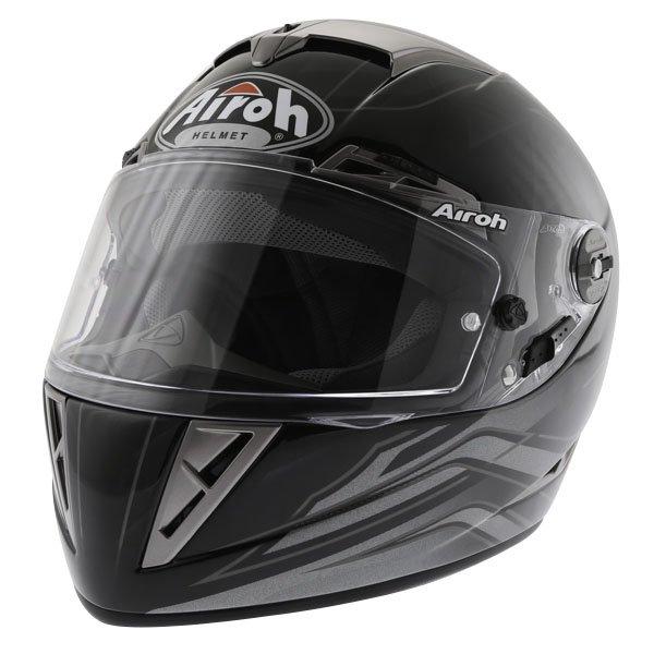 Airoh GP Shadow Black Helmet Front Left