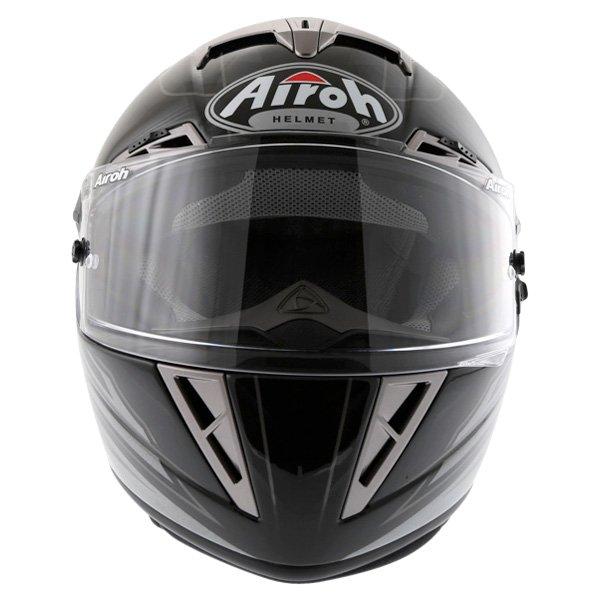 Airoh GP Shadow Black Helmet Front