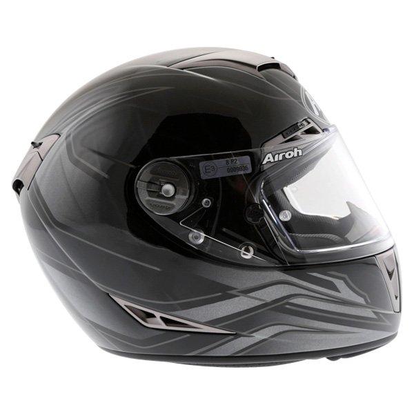 Airoh GP Shadow Black Helmet Right Side