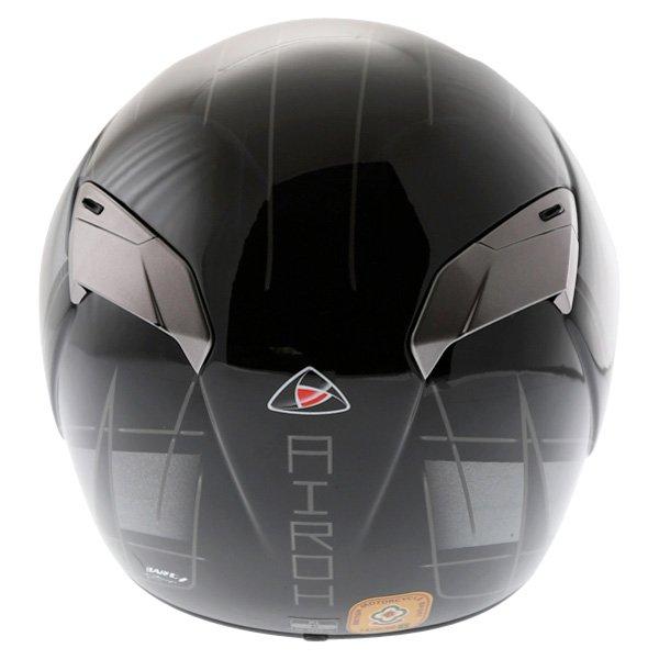 Airoh GP Shadow Black Helmet Back