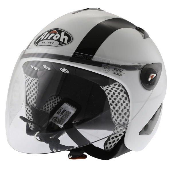 Airoh JT Bicolor White Black Helmet Front Left