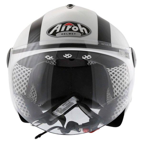 Airoh JT Bicolor White Black Helmet Front
