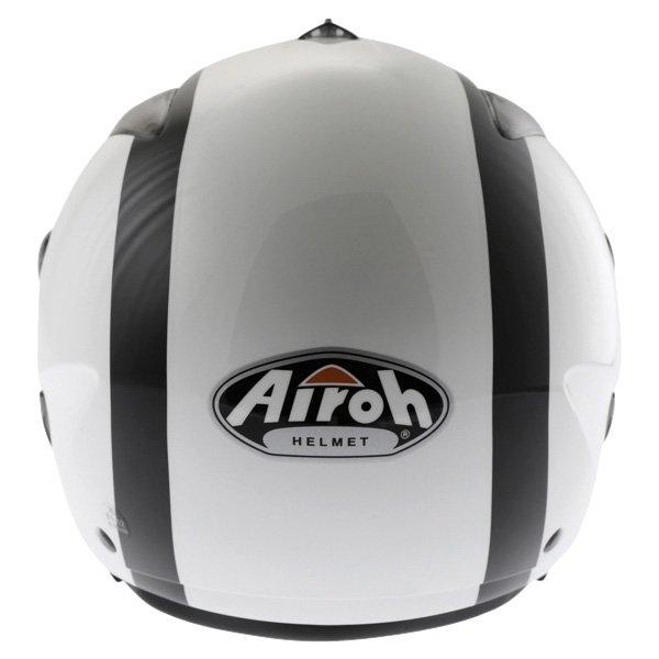 Airoh JT Bicolor White Black Helmet Back