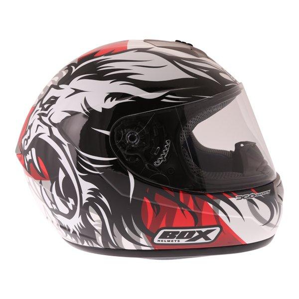 Box BX-1 Red Lion Helmet Right Side