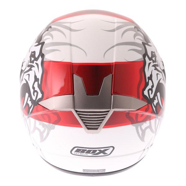 Box BX-1 Red Lion Helmet Back