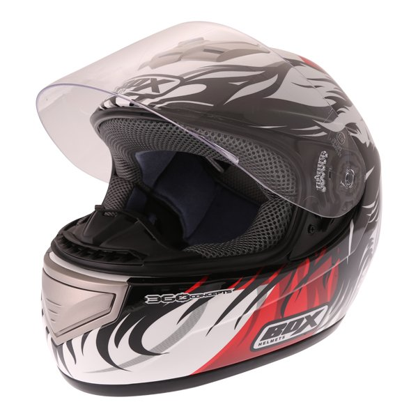 Box BX-1 Red Lion Helmet Open