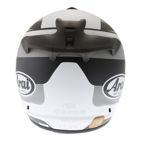 Arai Axces III Sense Flo Yellow Full Face Motorcycle Helmet back