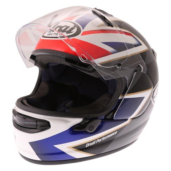 Arai Chaser-X League UK Full Face Motorcycle Helmet Open Visor