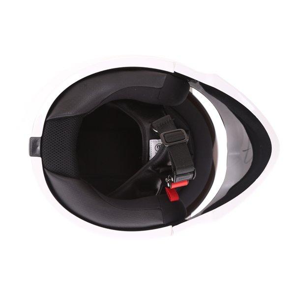 Scorpion Exo Combat White Motorcycle Helmet Inside