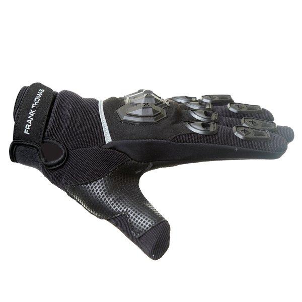 Frank Thomas Ridding Black Motorcycle Gloves Thumb side