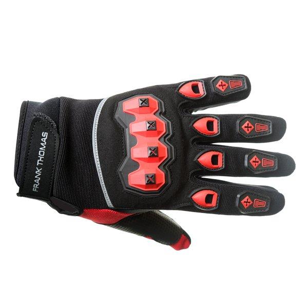 FT88 Ridding Gloves Black Red Motorcycle Gloves