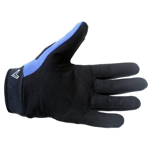Frank Thomas FT88 Ridding Black and Blue Gloves Palm